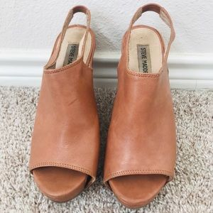 Steve Madden Leather Wedges